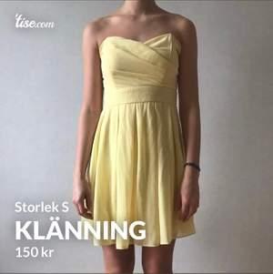 Gul fin klänning. Perfekt till sommaren.