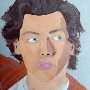 En bild på Harry Styles som jag själva har målat, uppskattas om någon köpte! 100kr exklusive frakt 💕💫