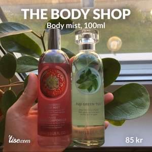 Två body mists från the body shop som har ett värde på 320kr, nu för 150 båda eller 85kr för en