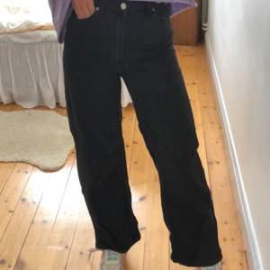 Svarta raka jeans från H&M. Sparsamt använda. Nyrpis närmare 400kr. Storlek 36. 100% bomull. Jag är 173cm lång. Jag står för frakten. PM vid frågor eller funderingar!