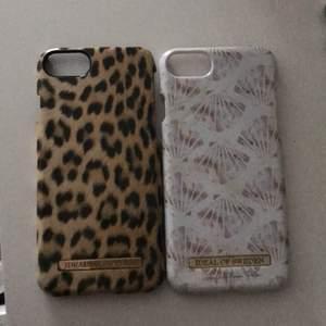 Leopard och snäckskal, 50kr/st. Passar till iphone 6/6S/7/8 och SE