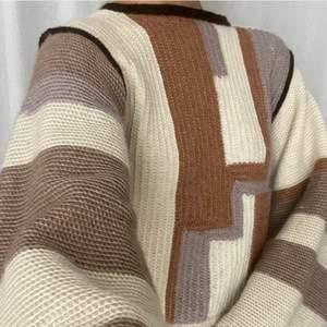 Handmade knit sweater in organic 50%bambus 50%wool