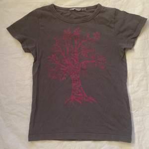 cool grå t-shirt med mörk rosa tryck. Barnstorlek (134/140) Men skulle säga passa XXS-Liten S beroende på hur man vill att den ska sitta. Bra skick förutom lite nopprig! Köparen står för frakt. 💕