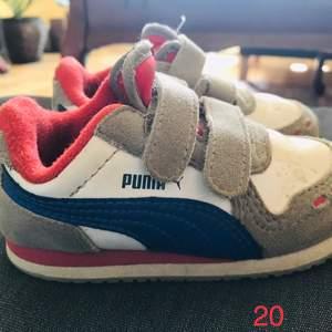Puma barn skor i storlek 20. Använda 6-8 gånger.
