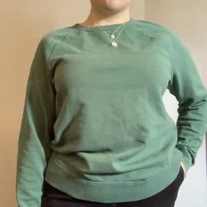 En gröna långärmad tröja som jag ägt ett par år men som använts snålt :)  Tröjan är jätte fin, men den kommer tyvärr inte till användning hos mig och jag hoppas den kan få ett nytt hem! Den är något grönare i verkligen än vad den ser ut att vara på bild. Den är en M i herrstorlek <3