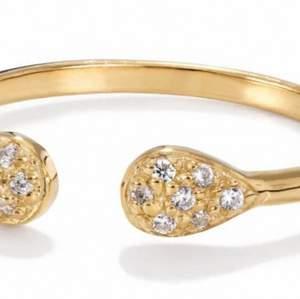 """En äkta silver ring från Bianca ingrosso """"Lydia"""" som är i förgyllt silver. Säljer då jag inte riktigt använder den. Lånade bilder.✨⚡️💫 fri frakt💛 budet startar på 100kr"""