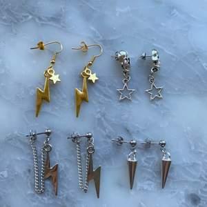 Handgjorda örhängen! De är i rostfritt stål och nickelfria! De kostar 39kr styck samt 12kr frakt! Men frakten ingår vid köp av två smycken eller mer!✨💕