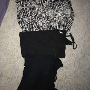 Säljer två klänningar och en byxdress, allt är helt oanvänt nästan. Alla tre för 150kr, då jag bara vill bli av med det så säljer jag allt billigt. Fråga gärna om mer bilder !