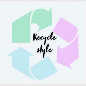 jag och min kompis kommer sy trendiga kläder och sälja till er! Det är också av återvunnet tyg därav bra för miljön!Skulle betyda så mke om just du följde oss, snart kommer det upp plagg! RecycleStyle!🌱🌱