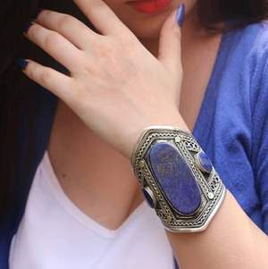 Beautiful lapis lazuli Afghan handcuff , Afghan jewellery.. free delivery, payment through PayPal..