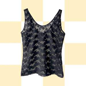 ◾️DELICATE BLACK FLOWER LACE CAMI TOP WITH ROUNDED NECK AND BACK  • SIZE - M / EU 38 • BRAND - H&M • MATERIAL - Polyamide & elastne  MY MEASUREMENTS • Height 161cm / 5'3
