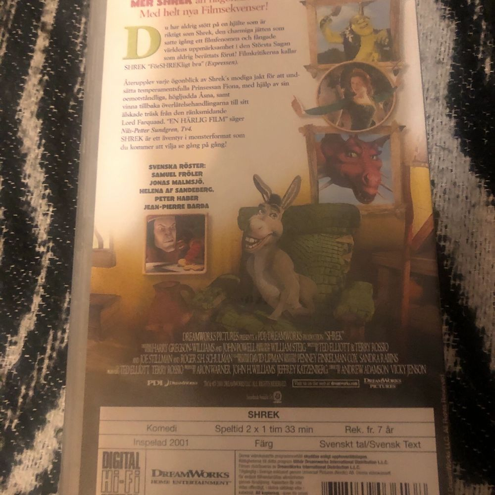VHS filmer, i fint skick. Innehåller bonusmaterial och finns både svensk dub och engelsk tal. Betalning sker helst via swish och posta efter mottagit betalning. Håller inget. . Övrigt.