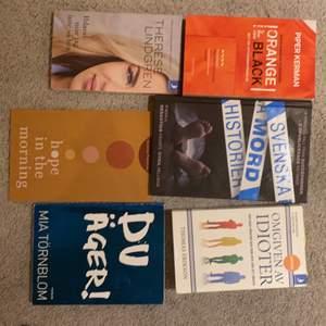 Säljer alla mina utlästa böcker nu! Hör av er om mer info om böckerna annars står allt online!!!