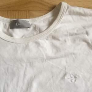 Superfin äkta Dior t-shirt. Storlek M. Något missfärgad därav priset, går definitivt att få bort med tex galltvål.