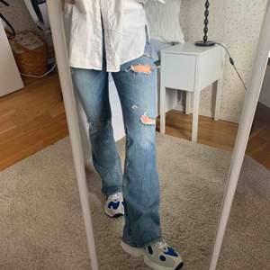 Intressekoll på de här jeansen från American eagle! Kan inte se vad det är för storlek men de passar mig som har S/36 i alla byxor och strl 27 i jeans från &other stories:)) köparen betalar frakt😊