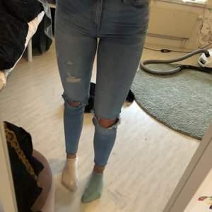 Blå jeans från lager 157💞 köpte dom för ganska länge sedan för 200kr men har inte använt dom☺️