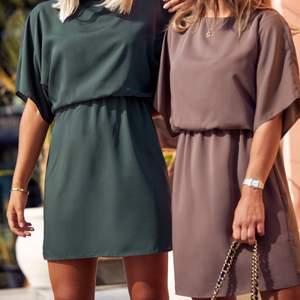 Så fin klänning från Moa Mattssons kollektion med bubbleroom, aldrig använd utan endast testad! Så fin nougat/brun färg, perfekt till sommaren!