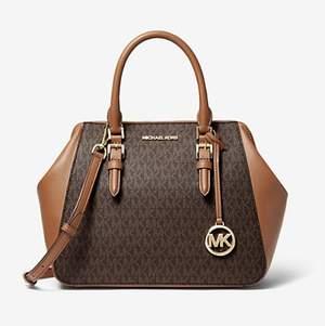 Intresse koll på min Mk Charlotte Satchel brun🥰  Väskan är helt ny med lappar kvar, ny priset ligger på 4300kr!  Fick den i julklapp men den har tyvärr inte kommit till användning 🎅