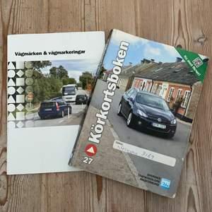 Säljer körkortsboken + vägmmärken & vägmarkeringar. Köparen står för frakten