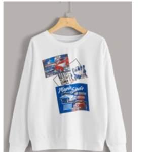 Enkel snygg sweatshirt från SHEIN, storlek M, budet ligger på 120 kr + frakt