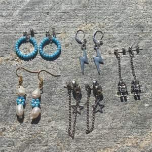 Säljer handgjorda smycken av mig! Örhängen kostar 70kr inkl frakt. Halsband kostar 90kr inkl frakt