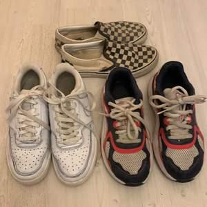 Puma skor stl 38 köpta i Tyskland 220kr, Nike skor stl 39 köpta på stadium 180kr, Vans skor stl 38 köpta på deras hemsida 220kr inkl frakt