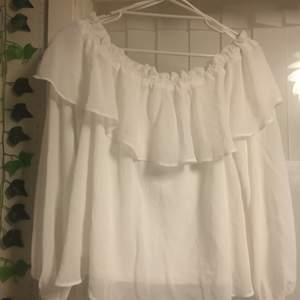 En offshoulder tröja som är köpt från H&M, använt ett par gånger. Säljer då den är för liten på mig.