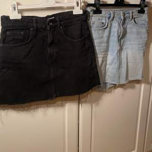 Säljer mina snygga jeanskjolar som har blivit för små för mig. paketpris: 100kr för båda annars 60krst