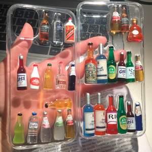 Mobilskal med 3D alkoholflaskor. Oanvända, den till höger finns i iphone modeller: xs Max, 7/8+, X/xs. Den till vänster är slut. 140 kr / st + Frakt 24 kr ( en skal väger ca 60-70g)