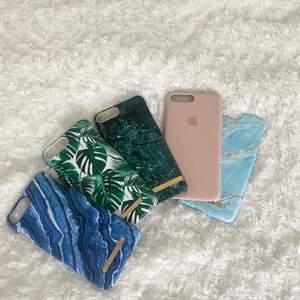 Superfina skal till iPhone 7/8+! Bra skick på skalen (förutom det ljusblåa som är trasigt i ena hörnet). Säljer pga ny mobil vilket gör att dessa inte kommer till användning mer. Ideal of Sweden skalen 50 kronor styck, äkta Apple skal 150 kronor. Men priset kan diskuteras🥰🥰💓💓✨