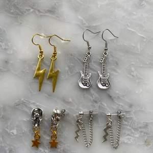Handgjorda örhängen! De är nickelfria! Frakt 11kr! Men vid köp av två smycken eller mer så ingår frakten!❤️
