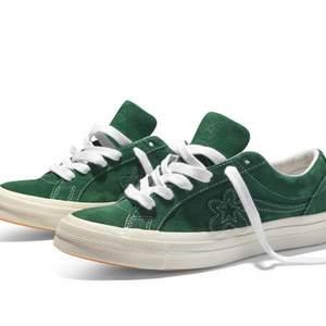 Golf le fleur av tyler the creator! sjukt balla skor, även de skönaste skorna jag någonsin satt på mina fötter. Säljer då jag gärna vill ha ett par andra. Kom med bud :) låda medföljer ej.