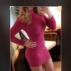 Red pink shiny dress