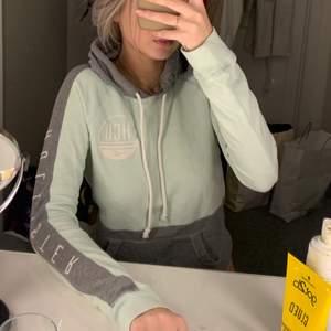 Mintgrön/grå hoodie ifrån Hollister