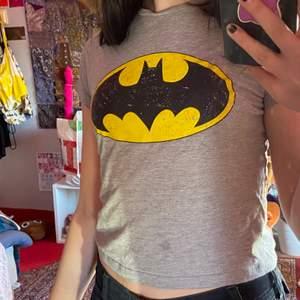 Trendig Grå t-shirt med batmantryck. Liten i storleken.
