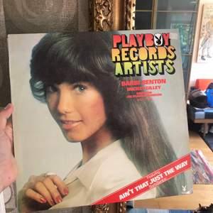 En playboy lp skiva som är köpt på second hand.