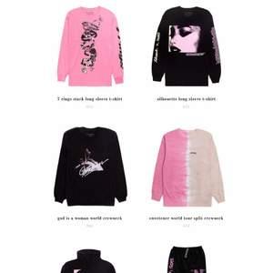 Hej söker alla dessa kläder av Ariana grandes merch ☺️ Så kontakta mig gärna om ni har 💓 Måste va i st M