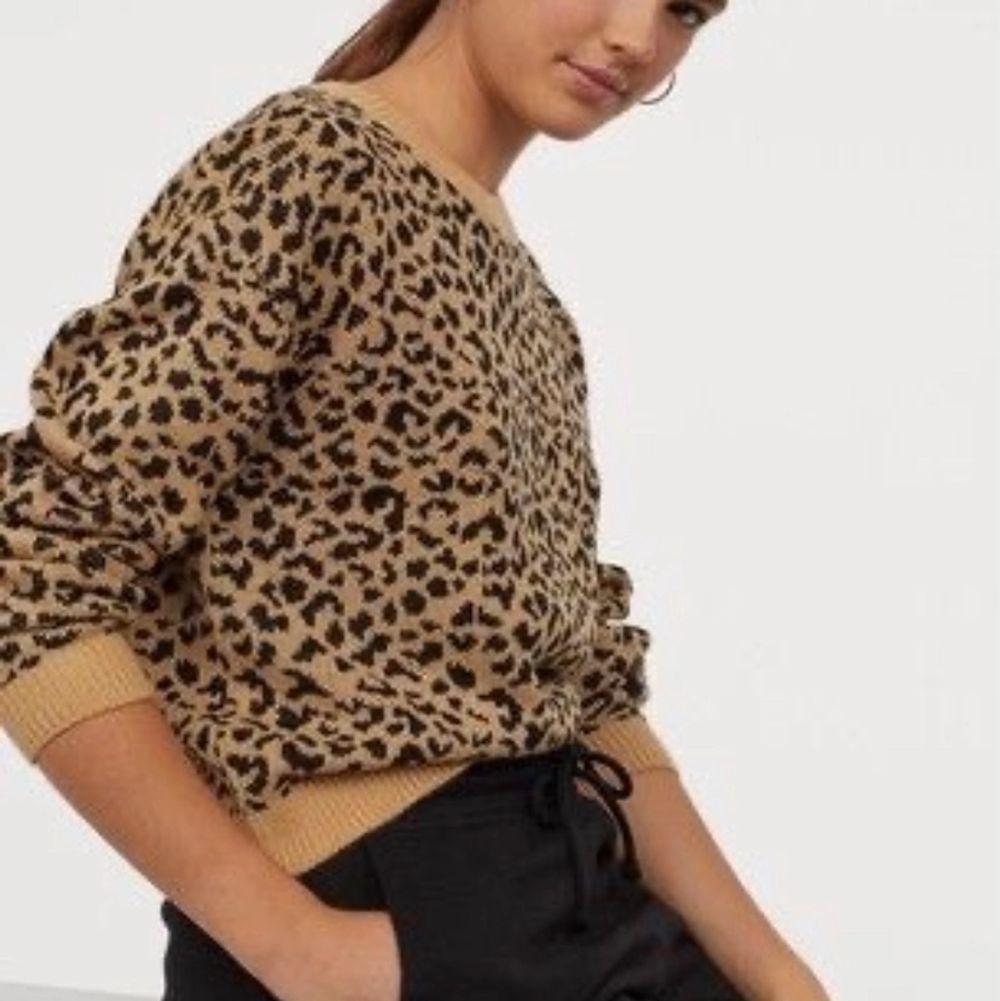 Jag säljer denna snygga stickade leopard tröjan! Jag säljer den då den inte kommer till användning längre, den är dock i bra skick! Dessa är inte mina bilder men om någon frågar så skickar jag gärna mina egna till dom!💞  . Stickat.
