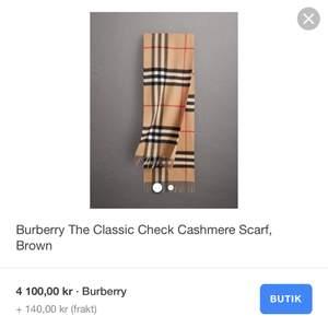 Äkta Burberry halsduk, inköpt för 4100kr exklusive frakt, säljes nu för 1000kr inkl frakt!