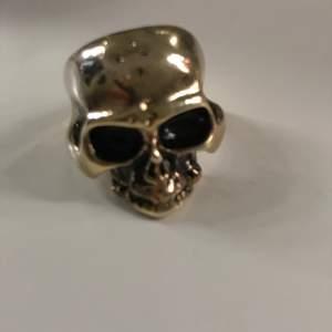 Dödskalle ring extremt snygg storlek 18(?) intressekoll