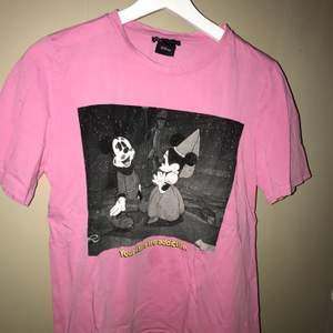 Rosa T-shirt med tryck på, i storlek S. Tröjan är från zara 💗