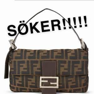 Söker en Fendi baguette handväska av något slag!!!! Vilken färg modell och vad som helst! Hör av dig!