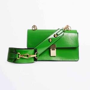 Säljer den här gröna väskan i nyskick då den ej kommer till användning