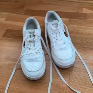 Ett par champion skor som tyvärr är för stora för mig, jag har vanligtvis 39. Som ni ser är ena skon lite trasig men det borde gå att laga. Tvättar dem lite innan jag säljer. Priset är 100kr + frakt. Kan även mötas upp i Kumla.