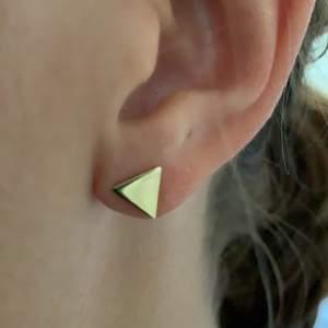 Triangelformade öronhängen. Aldrig använda. Frakt ingår!