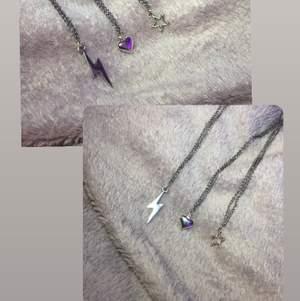 Säljer dessa halsband jag själv gjort och har i flera i lager.