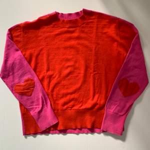 Stella McCartney långärmad tröja, orange o rosa, strl 12 år, bra skick
