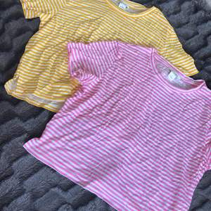 Gul och rosa randig t-shirt båda för 100 eller en för 60