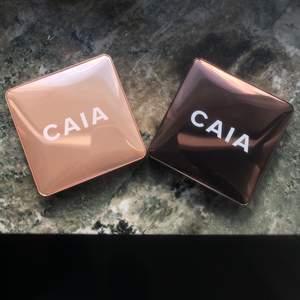 Säljer mina två super fina caia produkter, använda 2 gånger max. Väldigt mycket produkt kvar och fint skick! Kommer ej till användning tyvärr 😫🦋 Highlightern är såld! Bronzer är färgen Antigua 😍