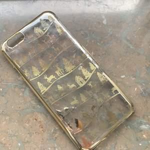 Fint mobilskal med julmotiv. Passar iPhone 6/6s. Priset kan duskuteras💕
